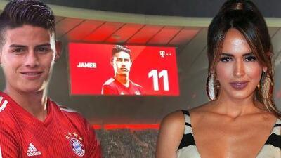Solo les falta publicar una foto juntos: Shannon de Lima acompañó a James Rodríguez a una victoria de su equipo
