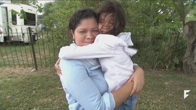 Little girl separated from her mother at the border is finally reunited with her in Texas