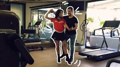 La novia de Cristiano baila buena salsa… pero no con él