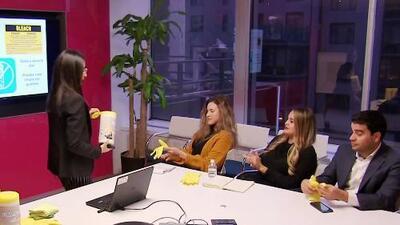 Yesenia tuvo que mostrar que es una mujer de negocios ante el equipo de ventas de Univision Nueva York