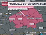 Activan vigilancia por tormentas severas e inundaciones repentinas en el sureste de Texas