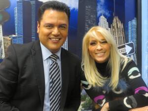Yuri contagió de energía los estudios de Univision