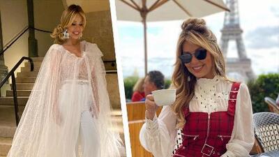 Myrka Dellanos se viste de novia en París y desfila, pero no rumbo a un altar