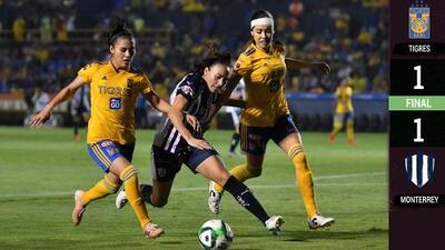 ¡Todo por definir! Tigres y Rayadas empatan en la ida de la Final femenil
