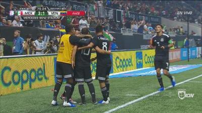Guardado marca el 3-1 de México sobre Venezuela y desata la locura en Atlanta