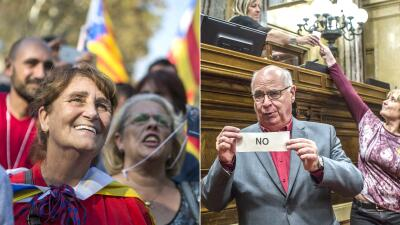 Entre la alegría y la angustia: los rostros después de la declaración de independencia de Cataluña (fotos)