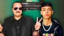 """Burlonamente, Natanael Cano dice que solo cantará con Pepe Aguilar cuando """"esté muerto"""""""