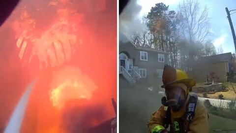EN VIDEO: Graban impresionantes imágenes de incendio en casa de Georgia