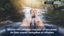 Mueren tres personas tras caer en una presa de Eden cuando navegaban en inflables