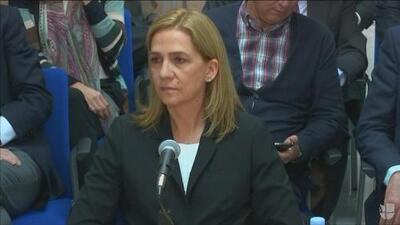 Cristina de Borbón se sentó frente al tribunal español para declarar sobre el caso Nóos
