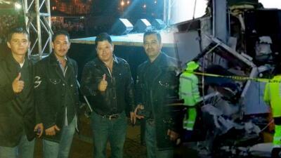 """""""Fue un gran susto"""": vocalista del Grupo Cessna relata el accidente que tuvieron en una carretera"""