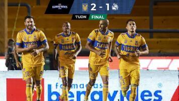 Tigres ganaba con comodidad y terminó pidiendo tiempo en el 2-1 ante Puebla