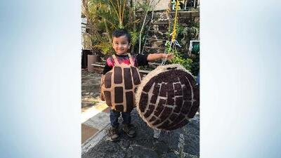 Boy celebrates birthday with concha themed party