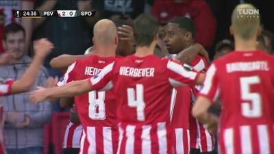 ¡Goles! PSV toma ventaja de 2-1 ante Sporting Lisboa tras el primer tiempo