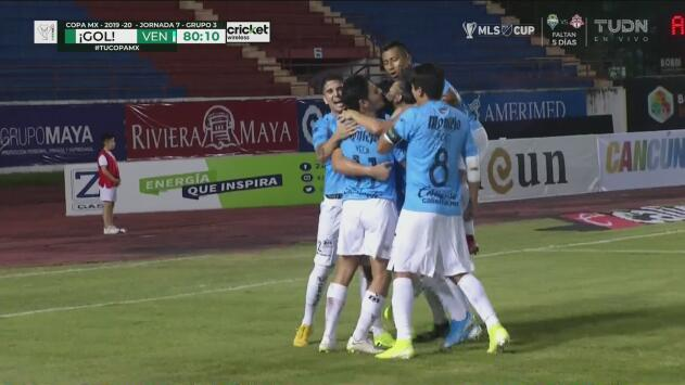 Cabezazo de Camargo y Venados anota el 0-1 ante Atlante
