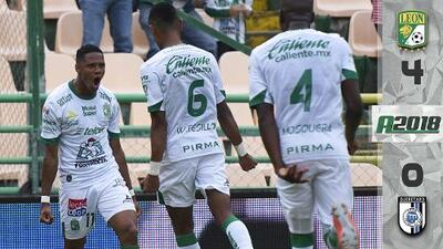 León 4-0 Querétaro – GOLES – RESUMEN – LIGA MX – CUARTA FECHA