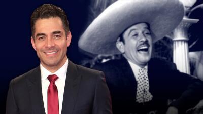Surge la primera imagen de Omar Chaparro caracterizado como Pedro Infante (y realmente se parecen)