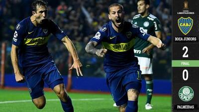 Con un heroico Benedetto, Boca Juniors consiguió gran ventaja en semis de Libertadores