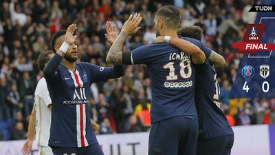 PSG recupera el brillo y golea al Angers