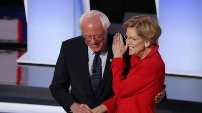 """Sin un choque entre Sanders y Warren, el debate demócrata fue un pulso entre """"liberales"""" y """"moderados"""""""