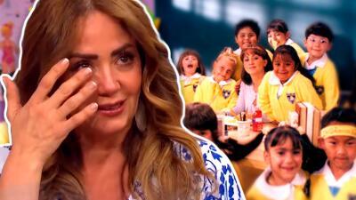 Andrea Legarreta recordó con lágrimas cuando perdió a su bebé y la consoló el elenco de '¡Vivan los niños!'