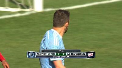 NYCFC de Villa sigue sin poder ganar en casa, empató 1-1 con el Revolution
