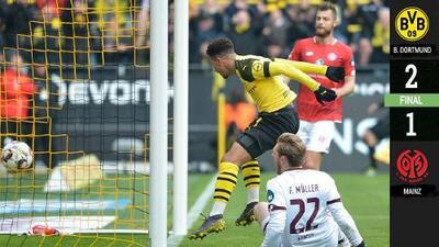 El Dortmund le gana a un impetuoso Mainz y le mete presión al Bayern de Múnich