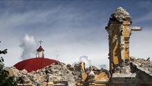 Lo que quedó de la Iglesia de Atzala, el templo mexicano más devastado por el terremoto