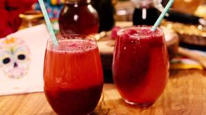 Sorbete de frutos rojos y champaña