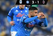 Con victoria ante en Bolonia, el Napoli sigue en la pelea por puestos de torneos europeos
