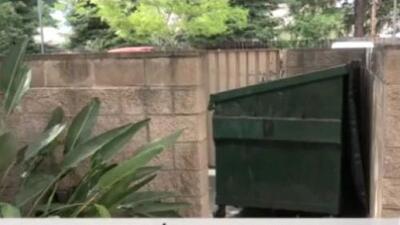 Rescatan a bebé dentro de un contenedor de basura en Stockton