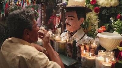 Worshipers celebrate the narco-saint in Mexico