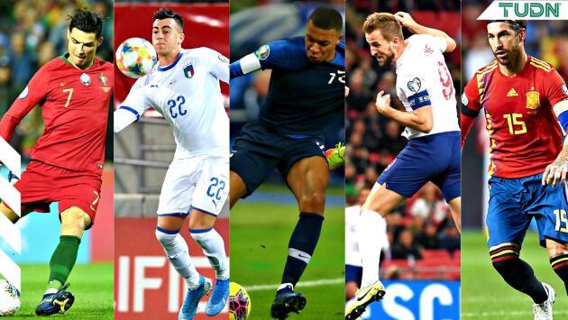 ¡Bienvenidos! Los 10 primeros países clasificados a la Eurocopa 2020