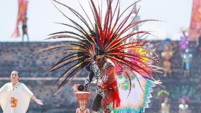 Encienden el fuego panamericano en Teotihuacán