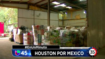 En Un Minuto Houston: Establecen varios centros de acopio para ayudar a damnificados por el terremoto en México