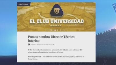 David Patiño toma el relevo de Pumas