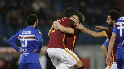 Roma 2-1 Sampdoria: La Roma gana con apuros y liga su tercer triunfo consecutivo