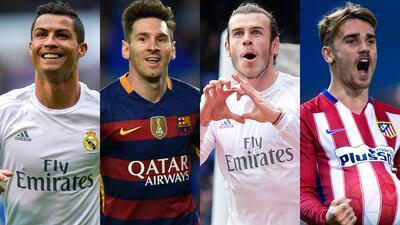 Messi, Ronaldo, Bale y Griezmann, entre los candidatos a Mejor Jugador en Europa de UEFA