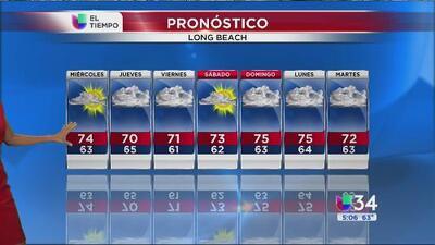 El sur de California tendrá un miércoles parcialmente nublado