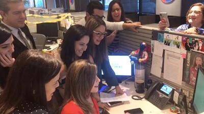 Así recibieron los periodistas de Univision 45 la noticia de las nominaciones a los premios Emmy 2018