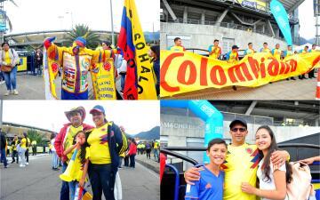 Gran ambiente en El Campín en el regreso de la selección de Colombia a Bogotá