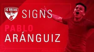 Ya es oficial: FC Dallas incorporó al volante ofensivo chileno Pablo Aránguiz