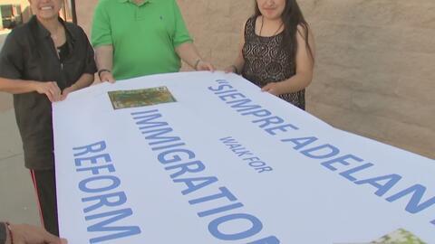 Inmigrantes católicos emprenden un largo peregrinaje para pedir una reforma migratoria
