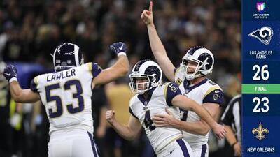 ¡Patada angelical! Rams derrotan en tiempo extra a Saints y avanzan al Super Bowl LIII