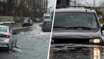 Reportan inundación de carreteras y calles en San Juan
