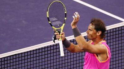 Como aplanadora: Rafael Nadal vence sin problema a Jared Donaldson en Indian Wells