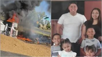Salió caminando entre las llamas: hombre sobrevive a la explosión del camión que manejaba y ahora necesita ayuda