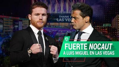 """'Canelo' Álvarez """"noquea"""" a Luis Miguel en Las Vegas, Nevada"""