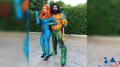 Así vivieron Halloween Omar y Argelia