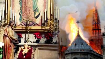 Antes del incendio en Notre Dame, un famoso nos mostró el altar de la Virgen de Guadalupe que hay en la catedral